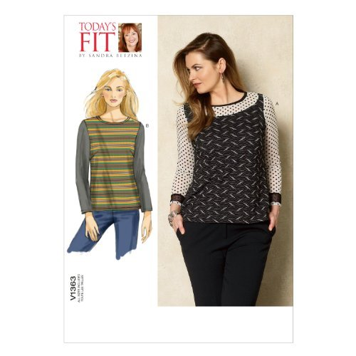 Primary image for Vogue Patterns V1363 Misses' Top Sewing Template, One Size Only