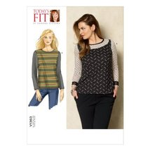 Vogue Patterns V1363 Misses' Top Sewing Template, One Size Only - $9.89