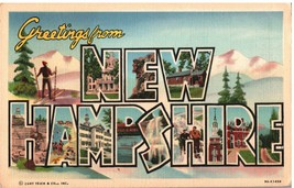 VINTAGE POSTCARD GREETINGS FROM NEW HAMPSHIRE CURT TEICH & CO. CARD UNCO... - $15.16