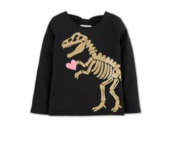 Carter's Girls Dino Cotton Shirt Size 4T - $12.99