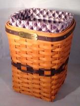 Longaberger JW Mini Miniature Waste Basket Combo Liner Protector - $49.00