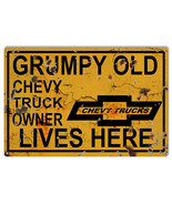 Chevy Truck Owner Lives Here Parking Sign 12×18 - $25.74