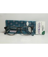 Womens Foster Grant Reading Glasses +1.75 Elodie Brown Tortoise Teal Gre... - $15.63