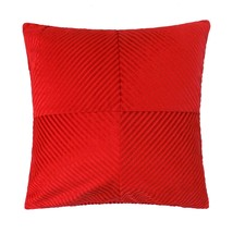 """2 X RED INSPIRAL STRIPE CHENILLE THICK SOFT 18"""" - 45CM CUSHION COVERS - $27.48"""