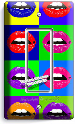 THE BEATLES POP ART JOHN GEORGE PAUL RINGO SINGLE LIGHT SWITCH COVER ROOM DECOR