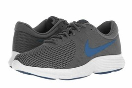 Nike Men's Revolution 4 Running Sneaker Dark Grey/Gym Blue-Anthracite Si... - $68.81