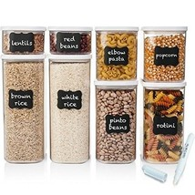 Shazo Airtight Container Set for Food Storage - 8 Piece Set + FREE 18 Ch... - $49.49