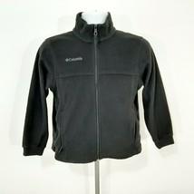 Columbia Boys Full Zip Fleece Jacket Size 10/12 Black  - $9.40
