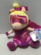 "Disney Junior Muppet Babies Super Fabulous Piggy 8"" Plush Toy Doll NEW TAGS NWT - $9.32"
