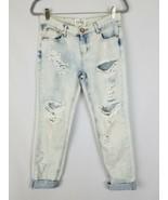 One Teaspoon 24 Toll Baggies Jeans Niedrige Taille Halbhoher Bund Bequem... - $64.83