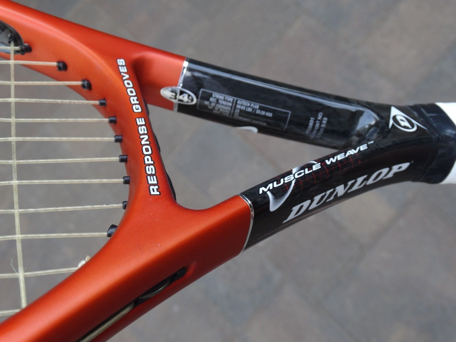 DUNLOP VISION 110 TENNIS RACKET RACQUET MUSCLE WEAVE RESPONSE GROOVES SIZE 4 3/8