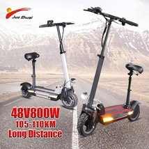 105-110KM Long Distance E Scooter 800W 26-30AH High Powerful for Adults E Scoote - $1,005.15