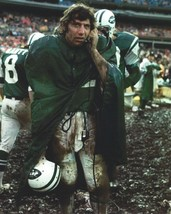 JOE NAMATH 8X10 PHOTO NEW YORK JETS NY COLTS PICTURE FOOTBALL ON PHONE I... - $3.95