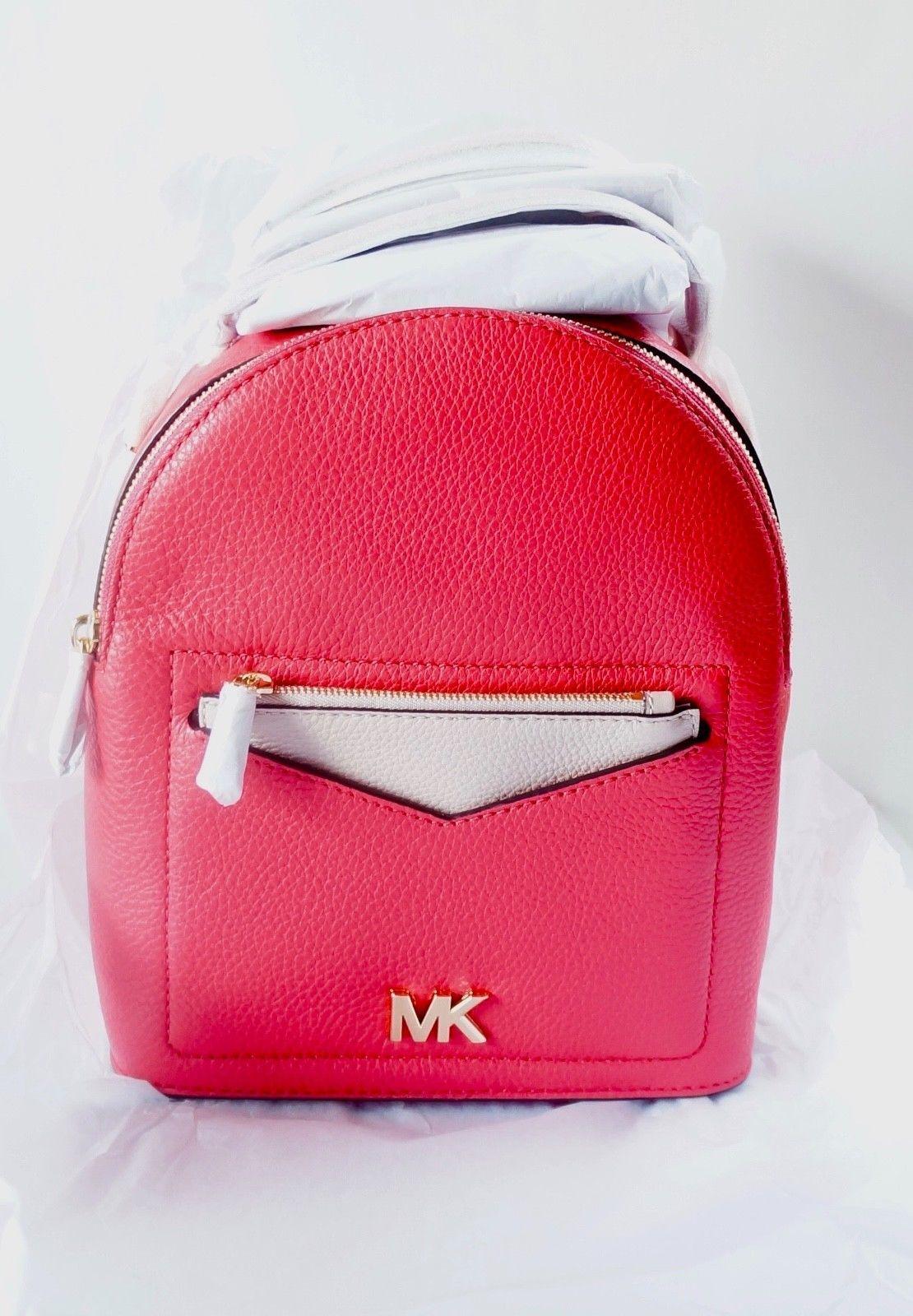 NWT MIchael Michael Kors Jessa Small Convertible Backpack   Deep Pink dcce59b414aaa