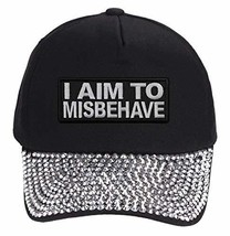 I Aim To Misbehave Hat (Rhinestone) - $18.95