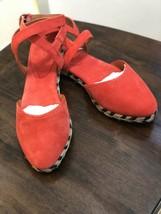 COACH Women's Ozzie Deep Coral Suede Sandals, Size 6.5 M - NWB - $69.29
