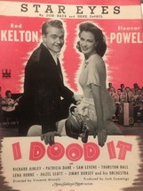 Red Skelton Eleanor Powell I Dood It Vintage Sheet Music Don Raye Gene D... - $7.70