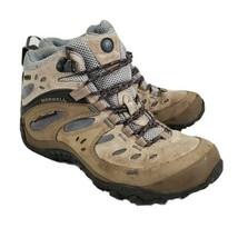 Merrell Chameleon Arc Mid Hiking Boot Waterproof Stone Blue Taupe Women's 7  - $28.99