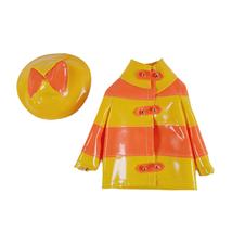 1965 Mattel Francie Barbie Clam Diggers Outfit #1258 Yellow Orange Rain Coat Vtg - $27.10
