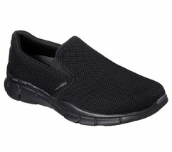 Skechers Black shoe Men Memory Foam Comfort Slip On Casual Mesh Sport Wa... - $49.79