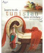 1 Vintage Annie's Attic Crochet Learn to do Tunisian Lace Stitches Booklet  - $11.99