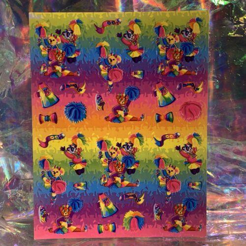 Vintage Lisa Frank Complete Sticker Sheet S360 CHEER BEARS  RARE  1daySHIP!