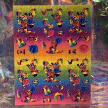Vintage Lisa Frank Complete Sticker Sheet S360 CHEER BEARS  RARE  1daySHIP!