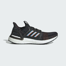 Adidas Men's Ultraboost 19 Boost Black Blue Running Shoes G54011 - $148.77