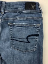 American Eagle Outfitters Super Stretch Kick Boot Denim Blue Jeans Women's 8R image 1