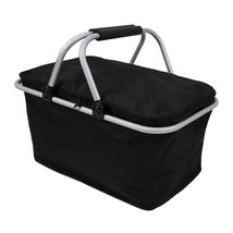 Folding Picnic Camping Outdoor Aluminum Beach Hiking Bag Storage Basket Box - €29,36 EUR