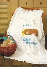 Crochet Baby's Sleeping Afghan Play Pad Bear Rockier Cushions Toy Holder... - $8.99