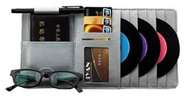 Auto Accessories DVD/CD Storage CD Visor DVD Wallet CD/DVD Holder Gray
