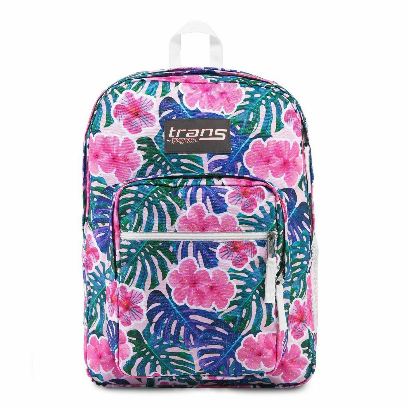 "Primary image for Brand New Trans by JanSport 17"" Supermax Backpack - Monstera Vibes - Pink Floral"
