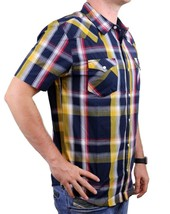 NEW LEVI'S MEN'S CLASSIC COTTON CASUAL BUTTON UP PLAID NAVY GLD-3LYSW6102 image 2