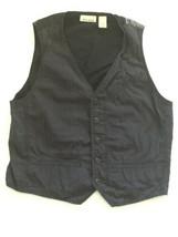 Dkny Jeans Women's Sz M Vest Black Grey Graphics Button Down Low Cut Top - $13.99