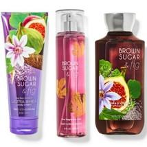 3 Pc Bath & Body Works Brown Sugar & Fig Set New. Body Mist, Lotion & Sh... - $29.91