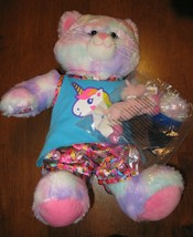 Build A Bear Cat with Unicorn pajamas and McDonalds DARLA Unicorn in pkg 2001 - $24.00