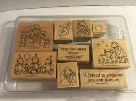 """Stampin' Up 1999 """"Beary Best"""" Set of 9 Wood Block Stamps - $21.45"""