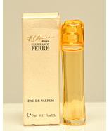 Gianfranco Ferré Essence d'eau Edp 5ml 0.17 Fl. Oz Miniature Splash Vint... - $59.00