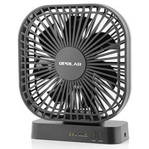 OPOLAR 5 Inch Desk Fan with Timer, USB or AA Batery Operated, 3 Speeds, ... - $30.37
