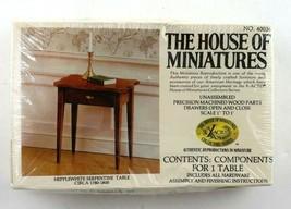 Vintage House Of Miniatures Hepplewhite Serpentine Table #40036 New Sealed - $8.95