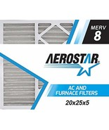 Aerostar 16 3/8x21 1/2x1 MERV 8 Pleated Air Filter, Made in the USA, 6-Pack - $40.84