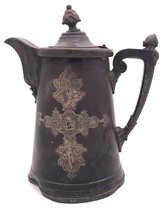"""ANTIQUE ORNATE VICTORIAN ICE WATER PITCHER FIGURAL 13""""H - $53.99"""