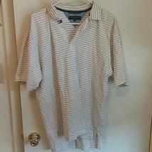 Tommy Hilfiger Golf Men's  Cotton Polo White gold Stripes medium - $15.95