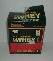Optimum Gold Standard Chocolate 100% Whey Protein Isolate Powder 6 Pks Exp 12/20 - $16.06