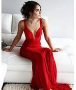 Sexy Red Mermaid Evening Dress,Sleeveless Long Prom Dresses,Formal Prom ... - $143.99