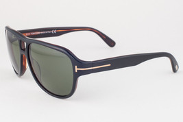 Tom Ford Dylan Shiny Black / Green Sunglasses TF446 05N - $155.82
