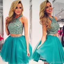 016 beading halter short prom dress tulle cheap homecoming graduation party.jpg 640x640 thumb200