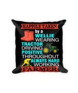 Farmer pillow - Square Pillow Case w/ stuffing - $23.00