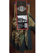 B & G X-LARGE XL Camo Knit Work Gloves Latex Coated New - $6.88